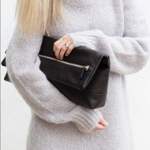Aritzia Six Eleven Huggable Clutch Bag leather